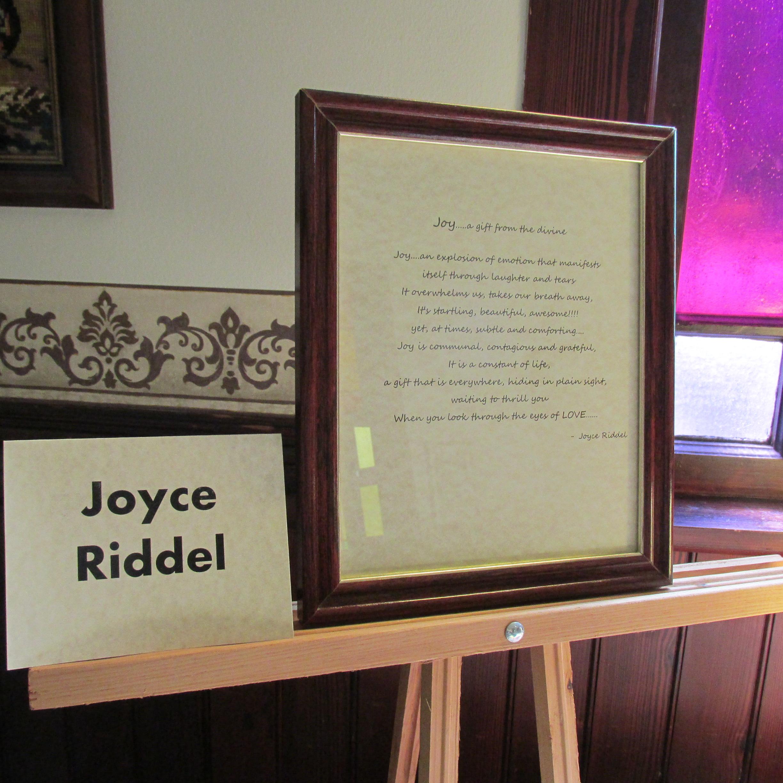 J2J poetry Joyce Riddell