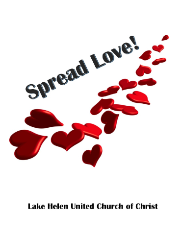 Spread Love graphic with church name